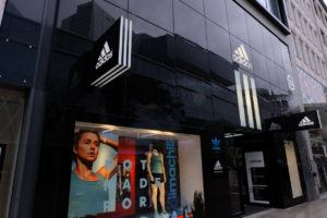 The outside of an Adidas store.
