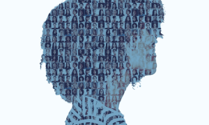Several photographs comprise a silhouette of another person. It is a metaphor for potential individuals that can comprise a jury.